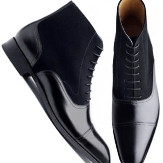 Handmade-Black-Leather-Boots-Mens-Ankle-High-Oxford-Dress-Leather-Boots3